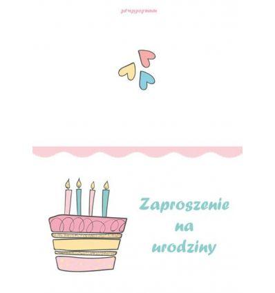 Zaproszenie urodzinowe 1