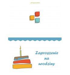 Zaproszenie urodzinowe 1 dla chłopca