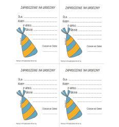 Zaproszenie urodzinowe 2 dla chłopca