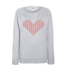 Bluza damska Krzyżakowe Serce