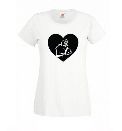 Koszulka serce lama