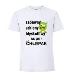 Zabawny Szalony Błyskotliwy Koszulka na dzień chłopaka