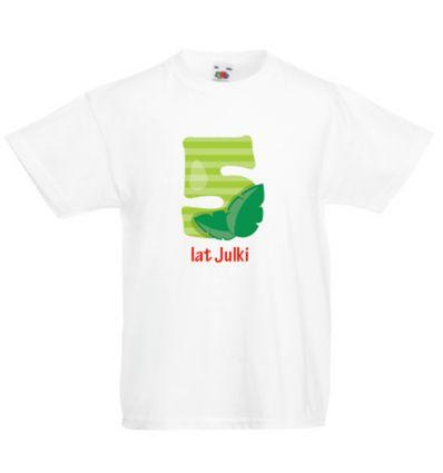Koszulka dziecięca z imieniem pięć lat Julki