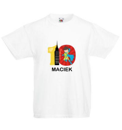 Koszulka dziesięć lat z imieniem