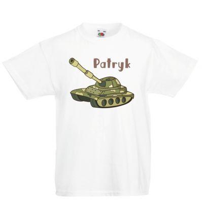 Koszulka dziecięca imienna Czołg