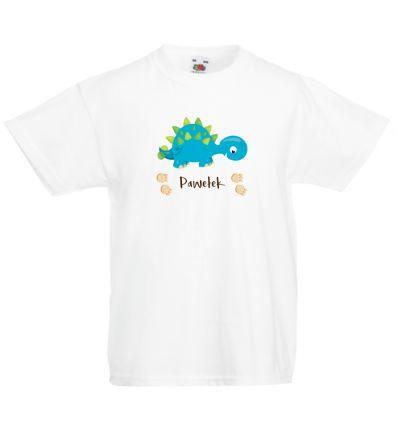 Koszulka dziecięca z imieniem Dinozaur