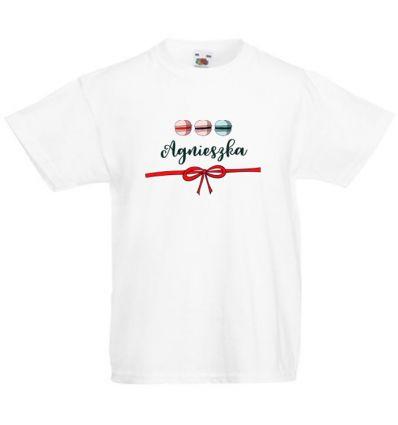 Koszulka dziecięca z imieniem Kolorowe Makaroniki