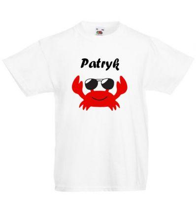 Koszulka z imieniem Krab w okularach