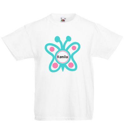 Koszulka dziecięca z imieniem Motyl