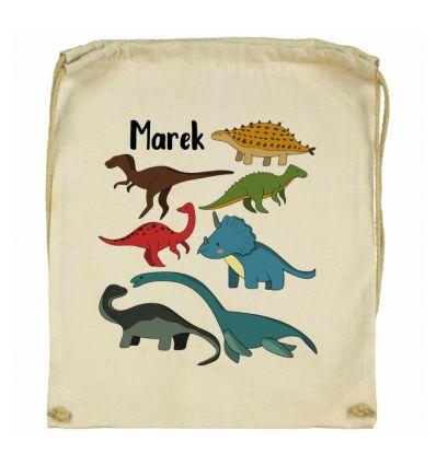 Workoplecak kolorowe dinozaury z imieniem