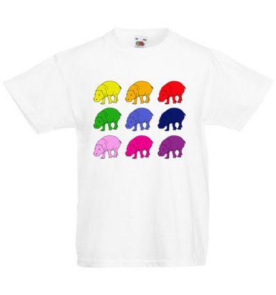 Koszulka kolorowe hippopotamy