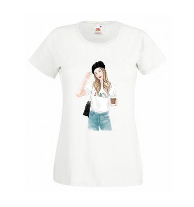 Koszulka Dziewczyna z kawą