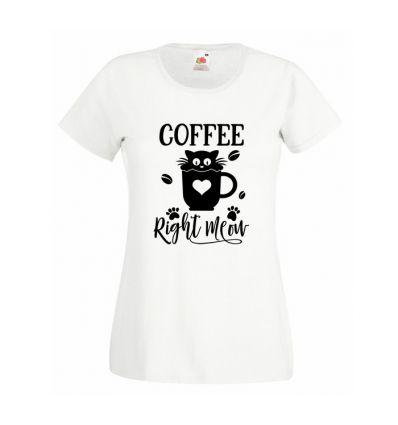 Koszulka Coffee right meow