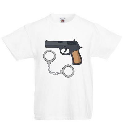 Koszulka dziecięca Pistolet i kajdanki