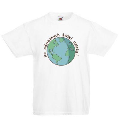 Koszulka dziecięca Do odważnych świat należy