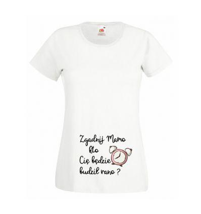 Koszulka Zgadnij mamo kto Cię będziej budził rano