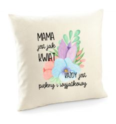 Poszewka Mama jest jak kwiat