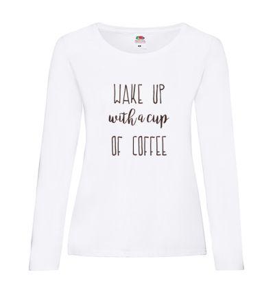 Koszulka damska z długim rękawem Wake up