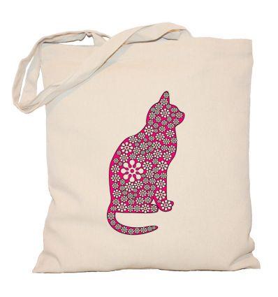 Torba różowy kot