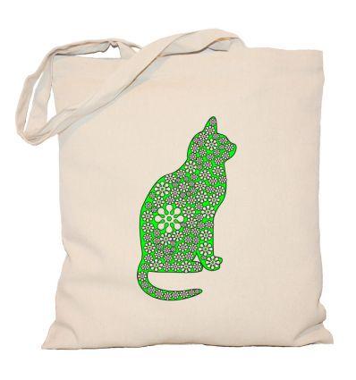 Torba zielony kot