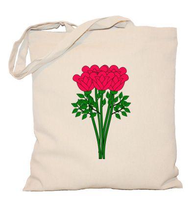 Torba bukiet kwiatów różowy
