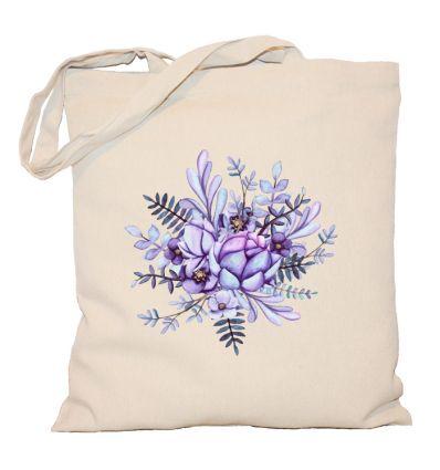 Torba fioletowe kwiatki