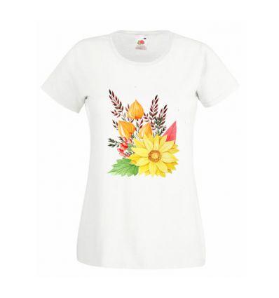 Koszulka jesienne kwiaty
