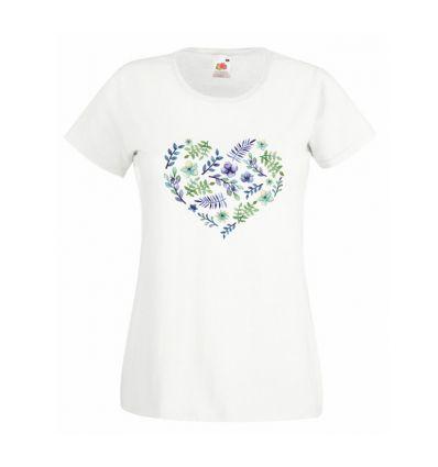 Koszulka serce z kwiatów