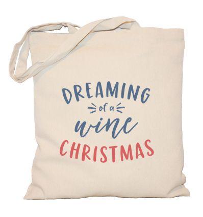 Torba świąteczna Dreaming of a wine Christmas