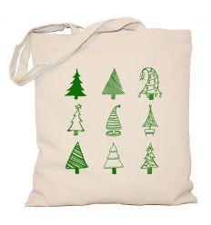 Torba świąteczna Choinki zielone