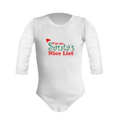 Body świąteczne I am on the Santa's nice list