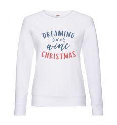 Bluza damska Dreaming of a wine Christmas