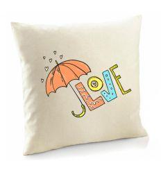 Poszewka Love kolorowe z parasolem
