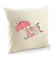 Poszewka Love różowe z parasolem