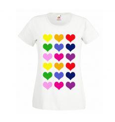 Koszulka damska Kolorowe serca