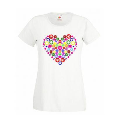 Koszulka z kolorowym sercem