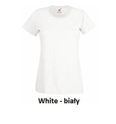 Fruit Koszulka Valueweight Lady White