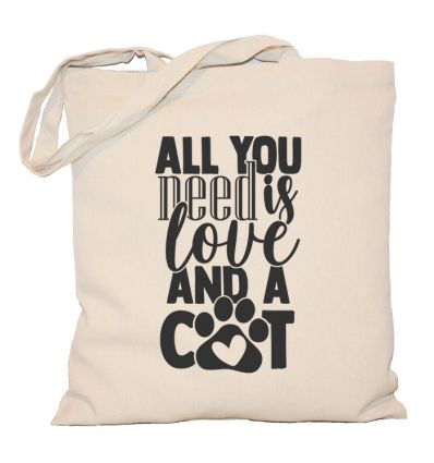 Torba z kotem All you need is love and a cat