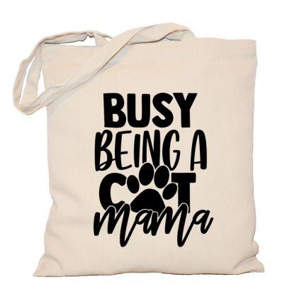 Torba z kotem Busy being a cat mama