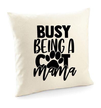 Poszewka z kotem Busy being a cat mama